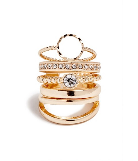 Bijuterii Femei GUESS Gold-Tone Dainty Ring Set gold