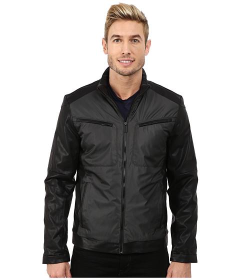 Imbracaminte Barbati Calvin Klein Faux LeatherYard Dye Jacket Black