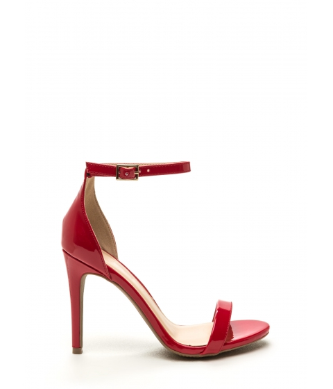 Incaltaminte Femei CheapChic Single-strap Ladies Faux Patent Heels Red