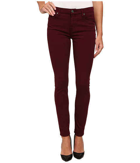 Imbracaminte Femei 7 For All Mankind Mid Rise Skinny with Contour Waistband in Dark Ruby Red Dark Ruby Red