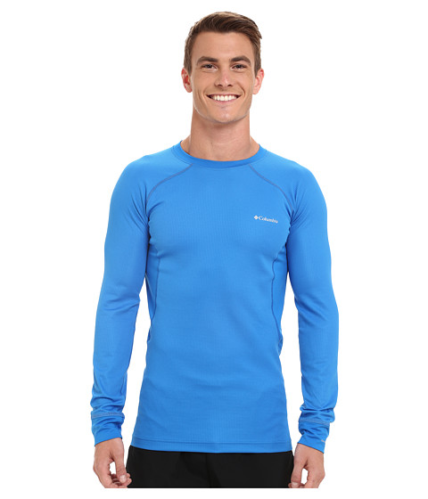 Imbracaminte Barbati Columbia Heavyweight II Long Sleeve Top Hyper BlueTradewinds Grey