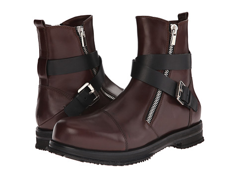 Incaltaminte Barbati Costume National Leather Buckle Boot EspressoNero