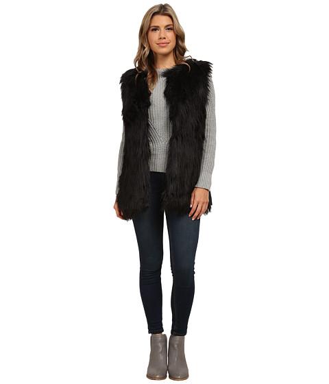 Imbracaminte Femei Gabriella Rocha Katrina Faux Fur Vest Black