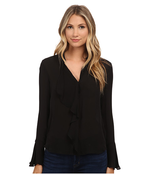 Imbracaminte Femei Rachel Zoe Morse Ruffle Front Blouse Black