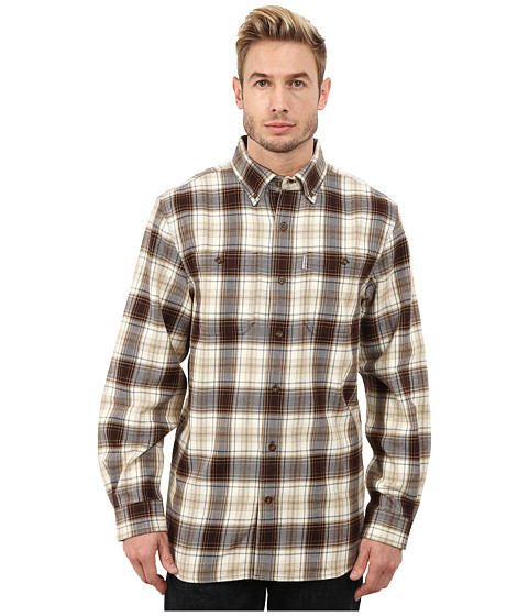 Imbracaminte Barbati Carhartt Trumbull Plaid Long Sleeve Shirt Dark Brown