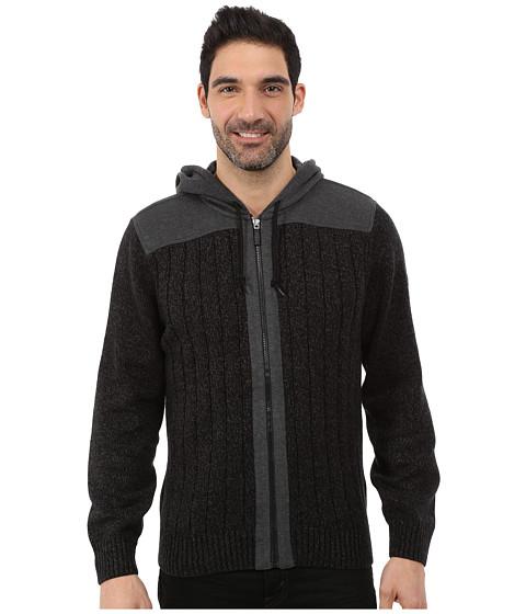 Imbracaminte Barbati DKNY Long Sleeve Rib Full Zip Hooded Sweater Black