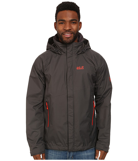Imbracaminte Barbati Jack Wolfskin Supercell Texapore Jacket Dark Steel