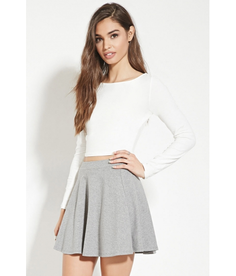 Imbracaminte Femei Forever21 Mini Skater Skirt Heather grey