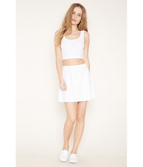 Imbracaminte Femei Forever21 Mini Skater Skirt White
