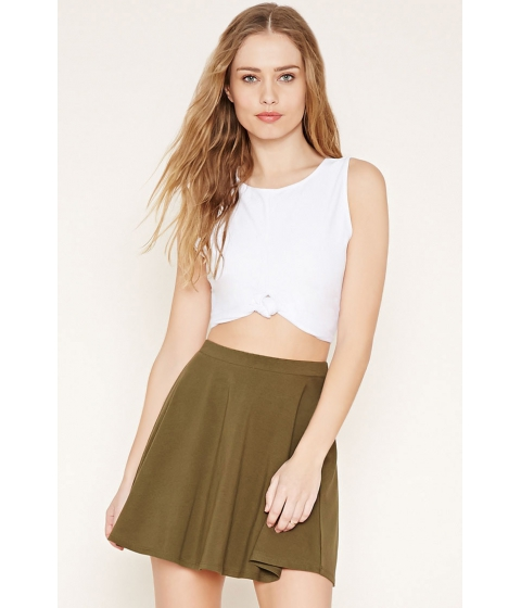 Imbracaminte Femei Forever21 Mini Skater Skirt Olive