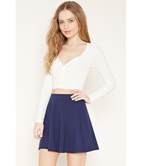 Imbracaminte Femei Forever21 Mini Skater Skirt Navy