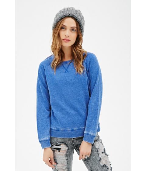 Imbracaminte Femei Forever21 Heathered Knit Sweatshirt Blue