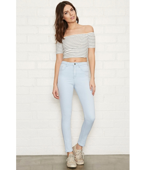 Imbracaminte Femei Forever21 The Fairfax High-Rise Jean Sky blue