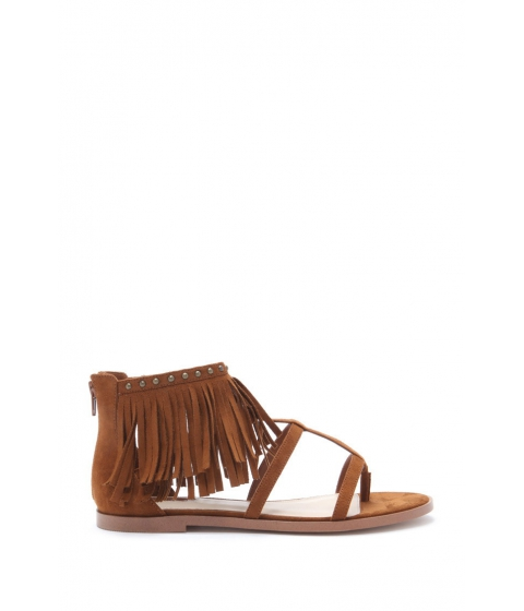 Incaltaminte Femei Forever21 Fringe Caged Sandals Tan