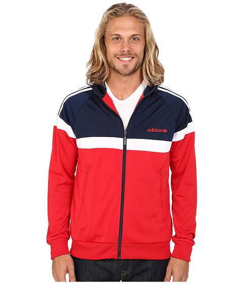 Imbracaminte Barbati Adidas Originals Itasca Track Top ScarletCollegiate NavyWhite