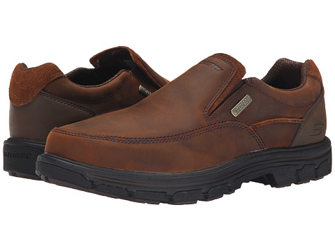 Incaltaminte Barbati SKECHERS Relaxed Fit Segment - Manlon Dark Brown Leather
