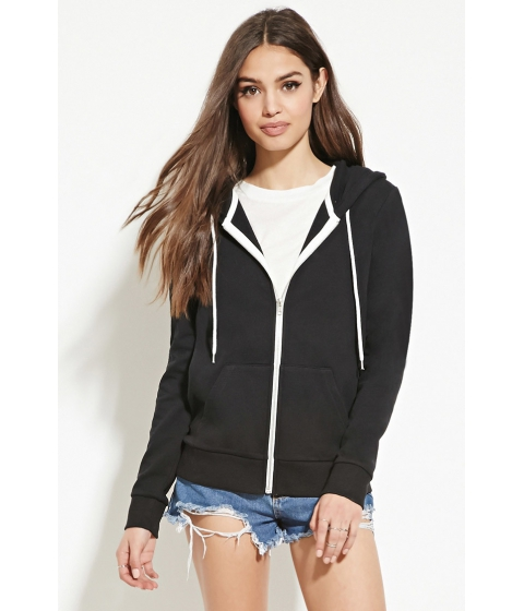 Imbracaminte Femei Forever21 Classic Zip-Up Hoodie Black