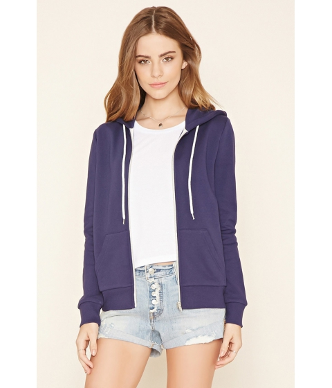 Imbracaminte Femei Forever21 Classic Zip-Up Hoodie Navy
