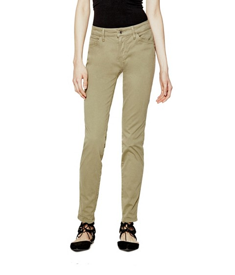 Imbracaminte Femei GUESS Mid-Rise Curve X Jeans in Sateen Finish romany olive wash