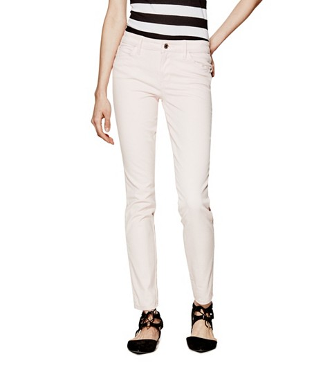 Imbracaminte Femei GUESS Mid-Rise Curve X Jeans in Sateen Finish romany primula pink
