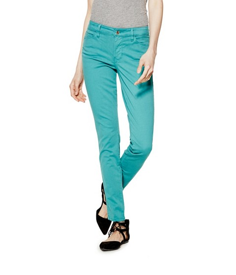 Imbracaminte Femei GUESS Mid-Rise Curve X Jeans in Sateen Finish romany turkish sea