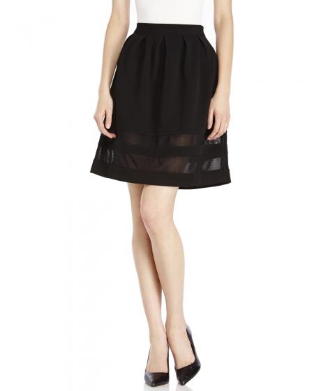 Imbracaminte Femei XOXO Mesh Insert Skirt Black