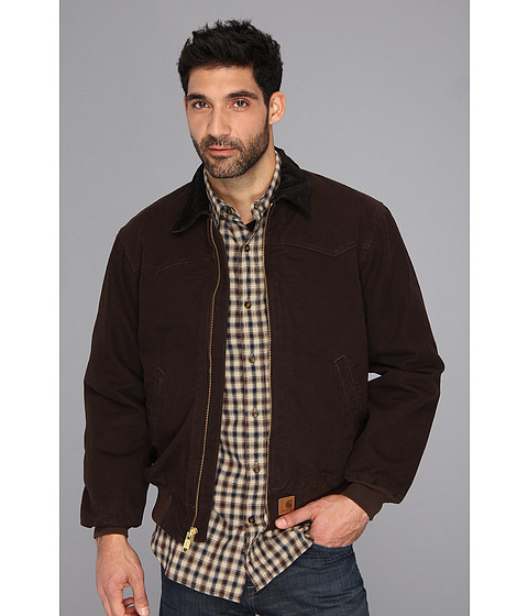 Imbracaminte Barbati Carhartt Sandstone Santa Fe Jacket Dark Brown