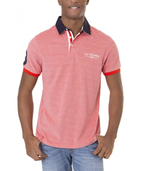 Imbracaminte Barbati US Polo Assn Two Tone Polo Shirt CRIMSON FIRE