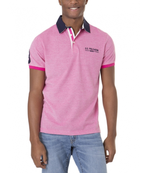Imbracaminte Barbati US Polo Assn Two Tone Polo Shirt CARIBBEAN PINK