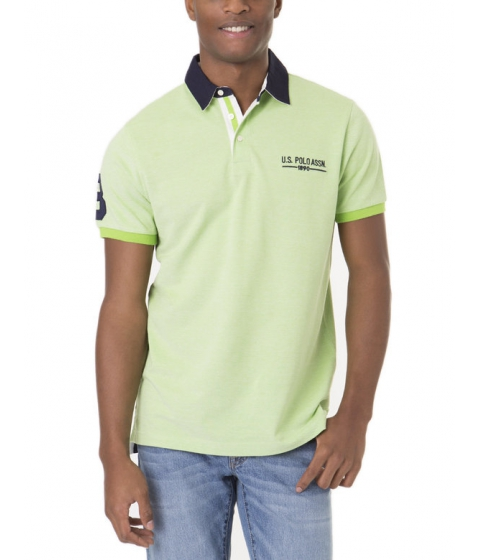 Imbracaminte Barbati US Polo Assn Two Tone Polo Shirt SUMMER LIME