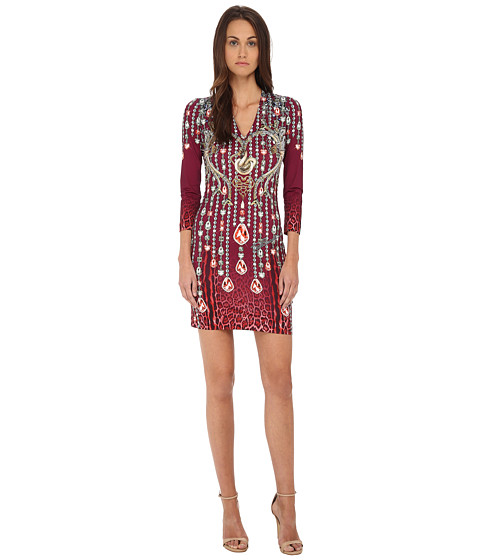 Imbracaminte Femei Just Cavalli Bodycon Printed Knit Dress Red Variant