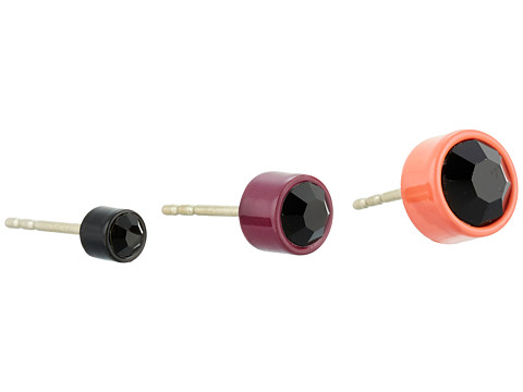 Bijuterii Femei Marc by Marc Jacobs Key Items Enamel Bezel Set Stud Trio Earrings Coral Multi