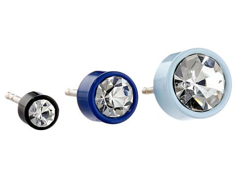 Bijuterii Femei Marc by Marc Jacobs Key Items Enamel Bezel Set Stud Trio Earrings Sapphire Multi