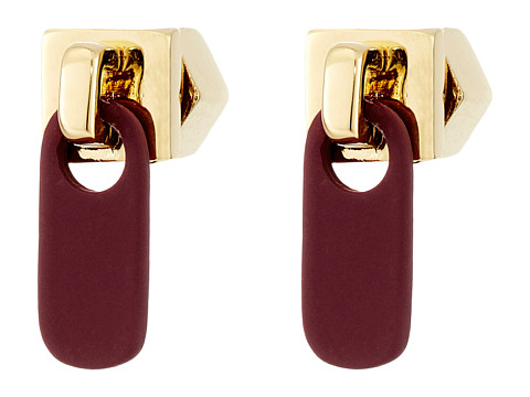 Bijuterii Femei Marc by Marc Jacobs Lost and Found Colored Zipper Pull Stud Earrings Garnet