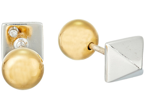 Bijuterii Femei Marc by Marc Jacobs How Riveting Circle and Pyramid Revers Earrings Argento Multi