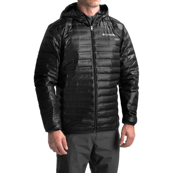 Imbracaminte Barbati Columbia Flash Forward Down Hooded Jacket - 650 Fill Power BLACK (01)