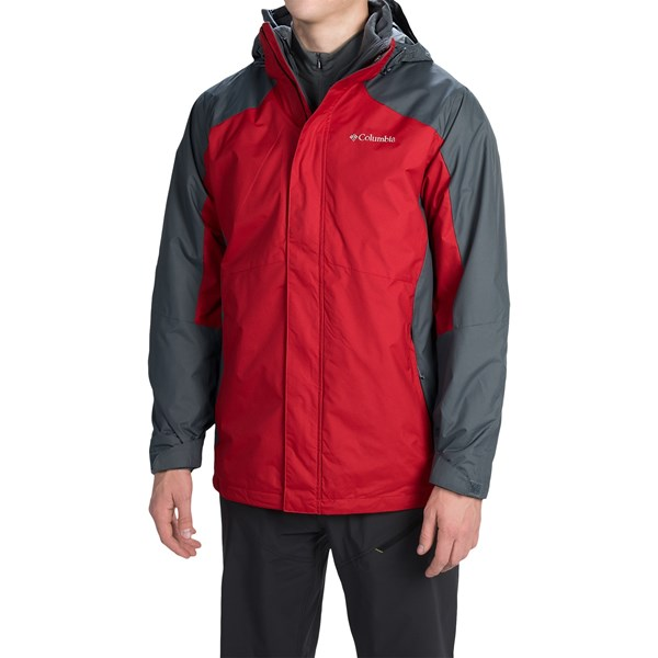 Imbracaminte Barbati Columbia Eager Air Interchange Jacket - 3-in-1 ROCKETGRAPHITE (02)