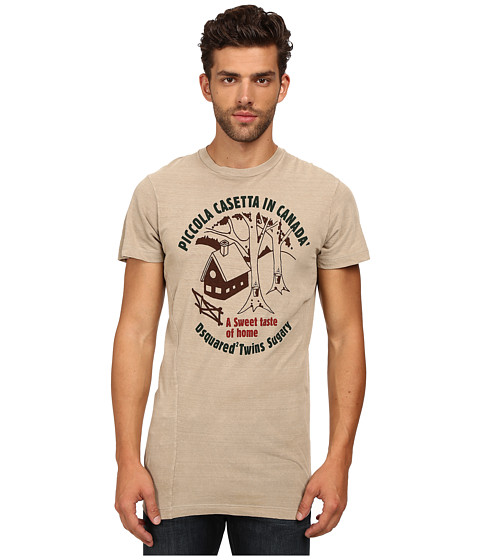 Imbracaminte Barbati DSQUARED2 Long Cool Twisted T-Shirt Beige