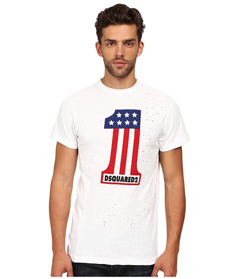 Imbracaminte Barbati DSQUARED2 Long Cool Twisted Print T-Shirt White