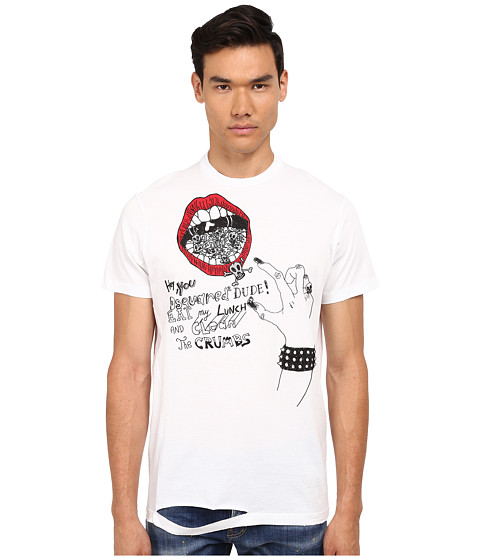 Imbracaminte Barbati DSQUARED2 Long Cool Twisted Ripped T-Shirt White