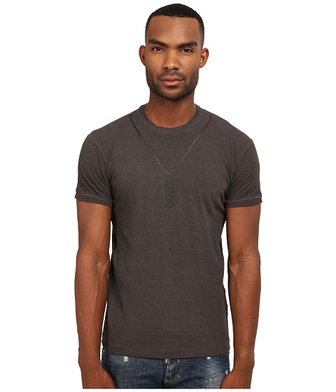 Imbracaminte Barbati DSQUARED2 Chic Dan Fit T-Shirt with Dog Tag Grey