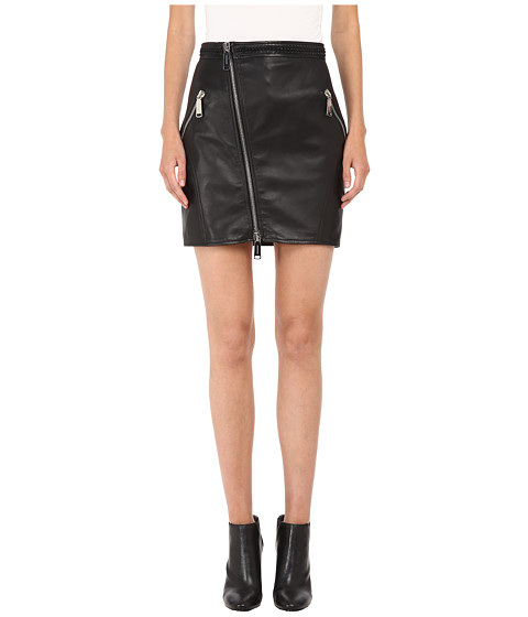 Imbracaminte Femei DSQUARED2 Lelya Leather Mini Skirt Black