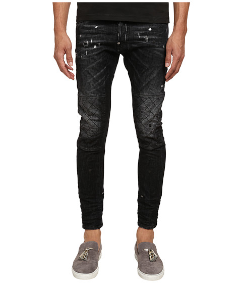 Imbracaminte Barbati DSQUARED2 Shot Wash Tidy Biker Jeans Black