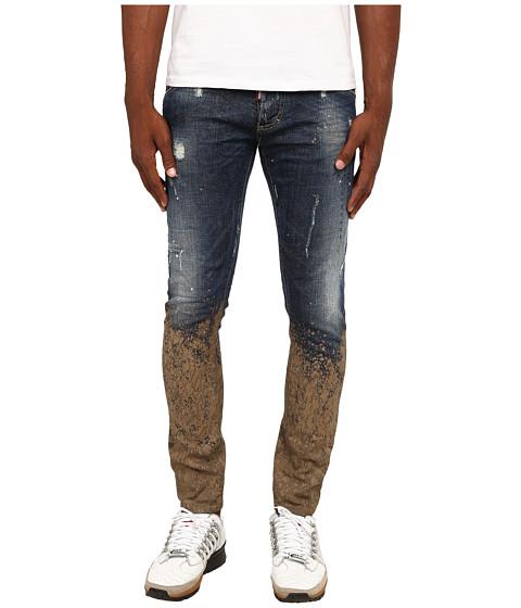Imbracaminte Barbati DSQUARED2 Mud Clement Jeans BlueMud