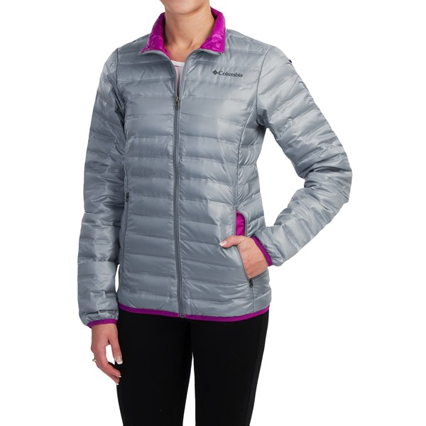 Imbracaminte Femei Columbia Flash Forward Down Jacket - 650 Fill Power TRADEWINDS GREYBRIGHT PLUM (02)
