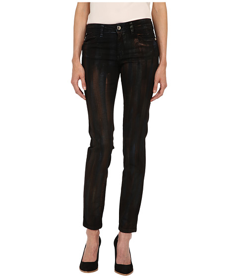 Imbracaminte Femei Just Cavalli Painted Metallic Brushstroke Denim in Black Denim Black Denim
