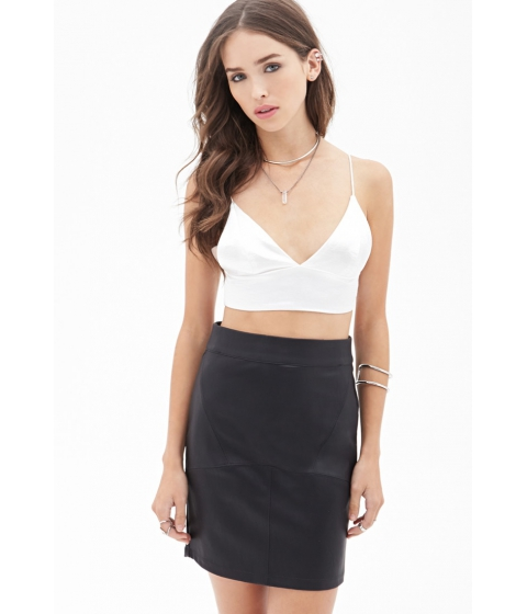 Imbracaminte Femei Forever21 Faux Leather Mini Skirt Black