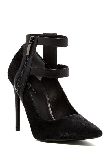 Incaltaminte Femei Kenneth Cole New York Wren Genuine Calf Hair Ankle Strap Pump BLACK