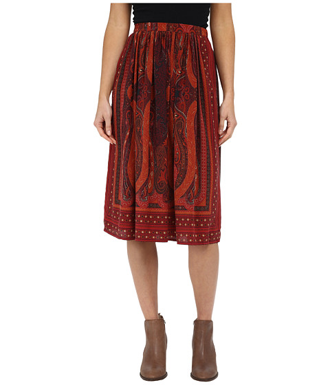 Imbracaminte Femei Lucky Brand Mirrored Batik Skirt Red Multi