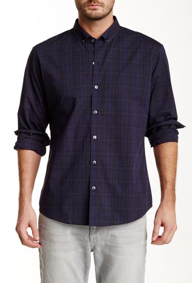 Imbracaminte Barbati Zachary Prell Gruning Long Sleeve Plaid Print Shirt NAVY